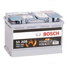 Аккумулятор BOSCH  (S5 А08) AGM 70 обр.