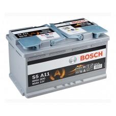Аккумулятор BOSCH  (S5 А11) AGM 80 обр.